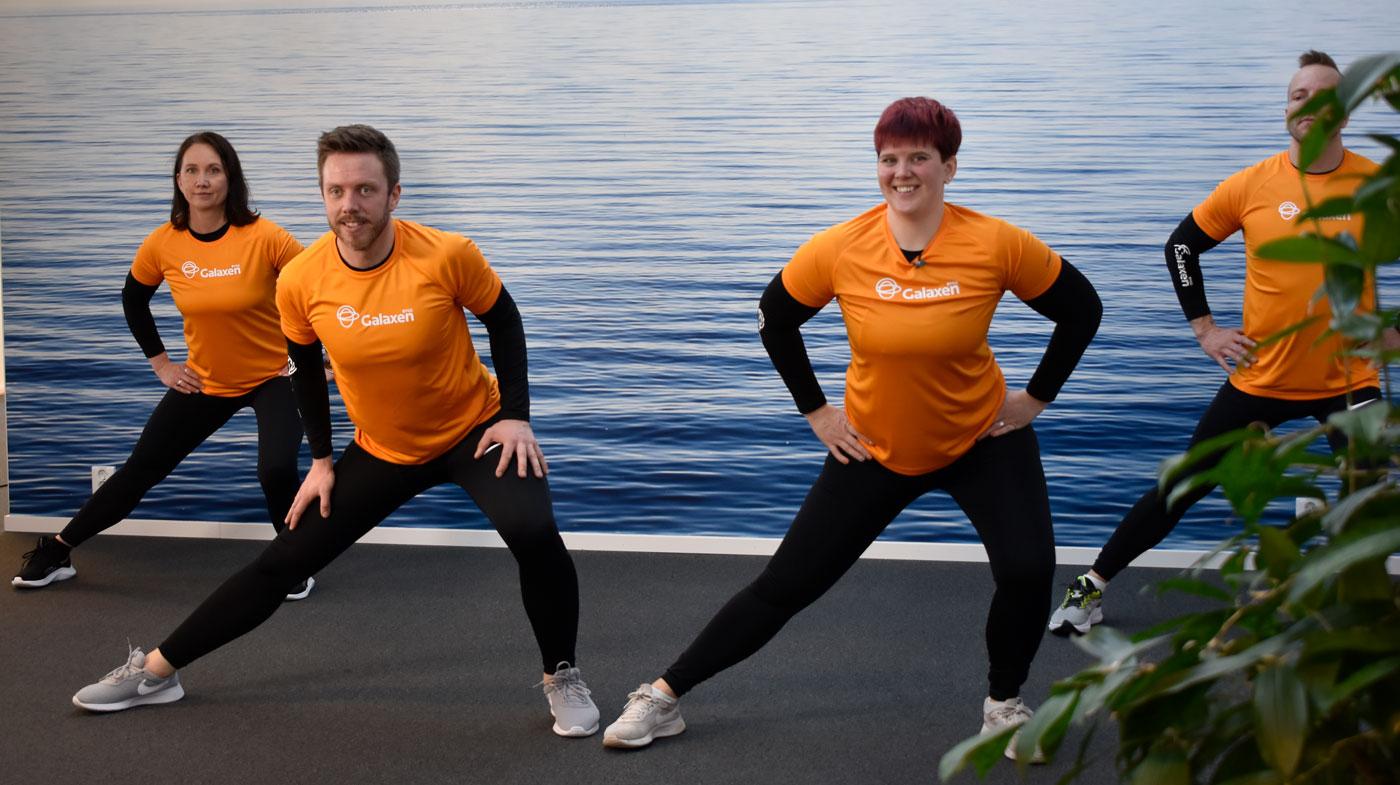 Stretch ben från träningsprogrammet